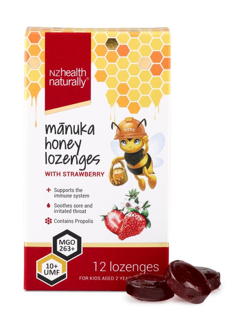UMF 10+ Mānuka Honey Lozenges - Strawberry
