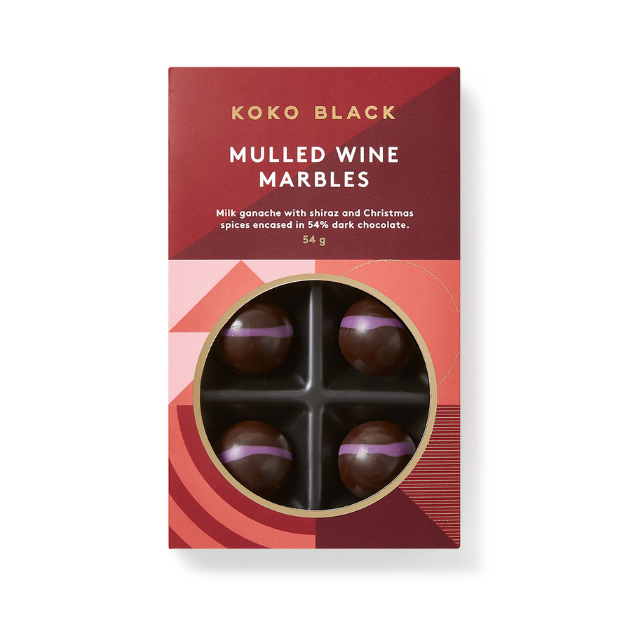 Mulled Wine Dark Chocolate Marbles