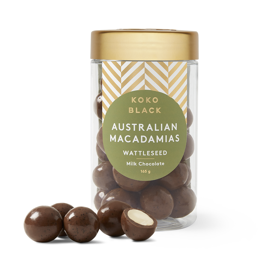 Wattleseed Macadamias |Milk Chocolate | Jar