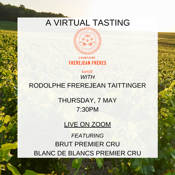 EVENT VIRTUAL MASTER CLASS: TDH + CHAMPAGNE FREREJEAN FRÈRES