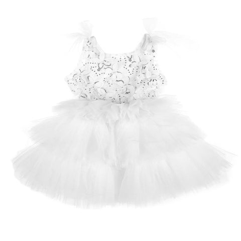 Sparkle Butterfly Tutu White