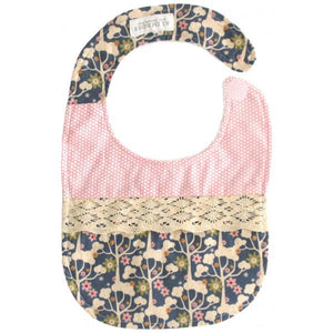 Wildflower and Pink Bib