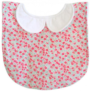 Sweet Floral Peter Pan Collar Bib