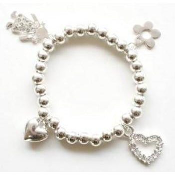 Multi Diamante Charm Bracelet