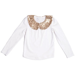 All That Glitters Top - Cream