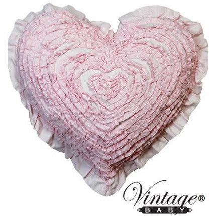 Pretty Pink Ruffle Heart Cushion