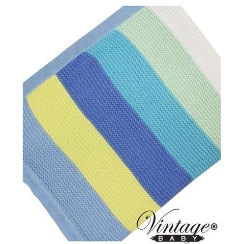 Funky Stripe Blue Blanket