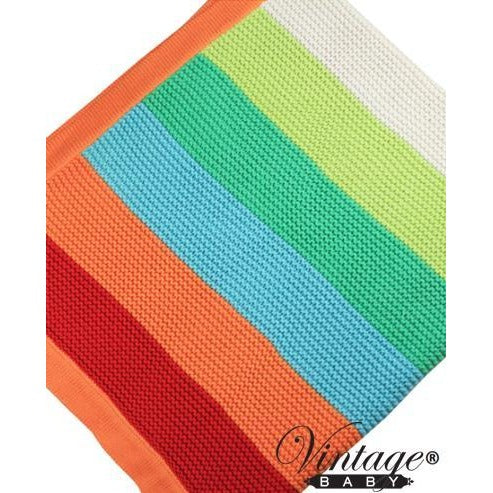 Funky Stripe Orange Blanket