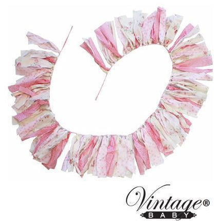 English Rose Streamer Bunting
