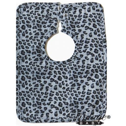 VB Blue Grey Leopard Bib