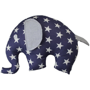 Navy Star Elephant Cushion
