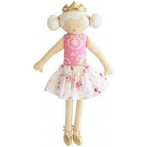 White Chintz Princess Doll