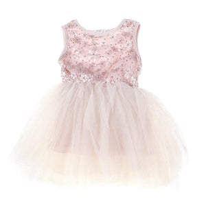 Sparkle Flower Tutu Dress Primrose - Gold