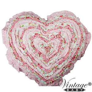 Candy Shoppe Ruffle Heart Cushion
