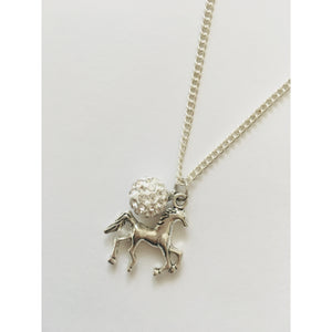 Horse and Diamante Bauble Necklace