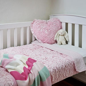Pretty Pink Ruffle Cot Quilt