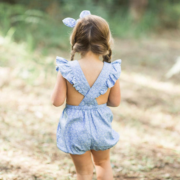 Puck Playsuit Ditsy Daisy Denim