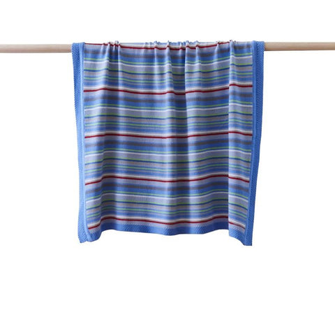 Striped Blanket Blue
