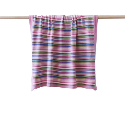 Striped Baby Blanket Pink