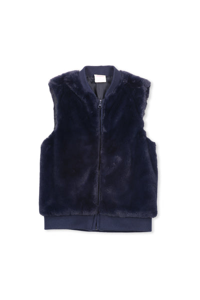Knit and Fur Vest