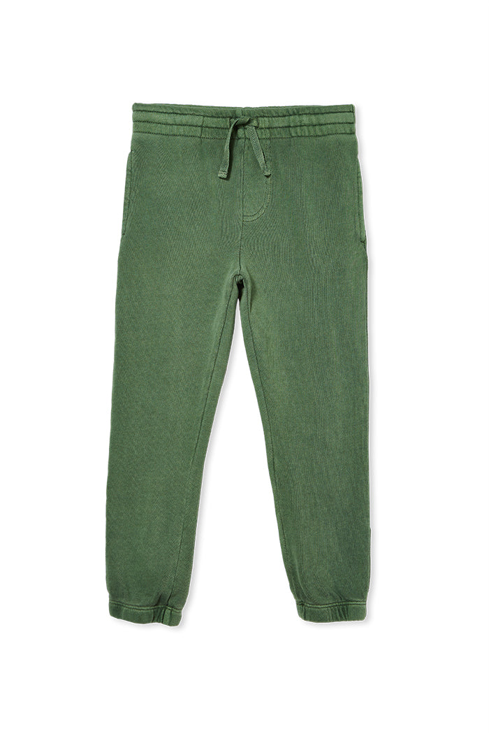FERN GARMENT DYED TRACK PANTS