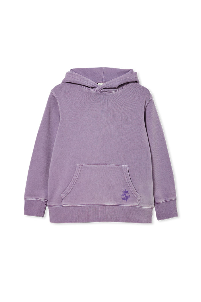 LILAC GARMENT DYED HOOD