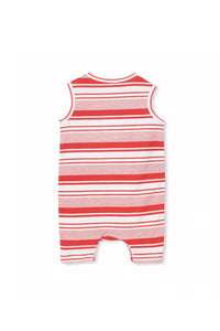 Red Stripe Romper