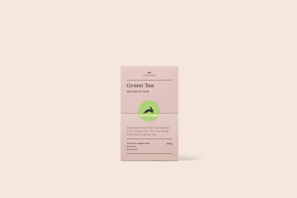 RabbitRabbit Green Tea Shampoo Bar 100gm