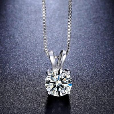 Women's Classic Crystal Pendant Necklace