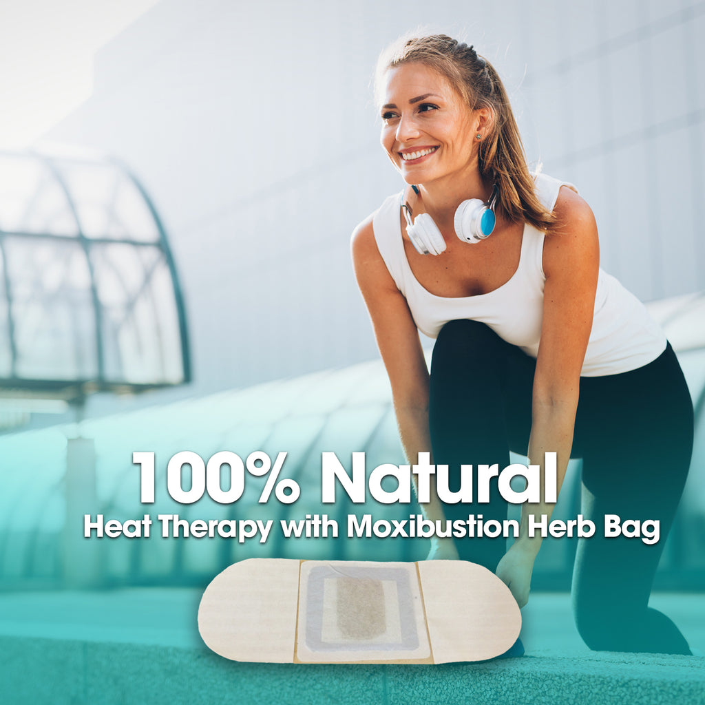 Moxibustion Menstrual Cramps Pain Relief Natural Heating Herb Therapy Patches