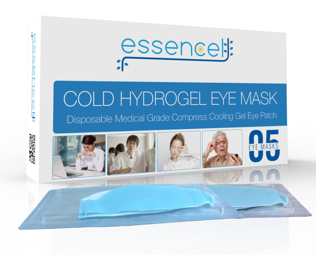 Cooling Gel Hydrating Eye Mask-Cold Eye Compress Pads for Puffy Eyes and Dry Eye Treatment , Sleep Eye Therapy Patch for Dark Circles, Headaches, Migraine, Allergy, Stress Relief