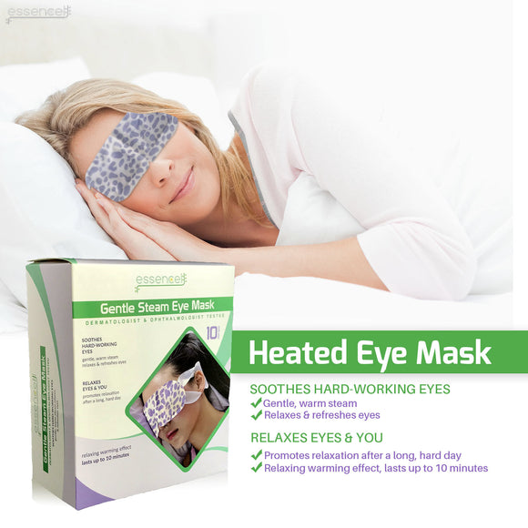 Steam Eye Mask for Dry Puffy Eyes, Dark Circles,  Heated Eye Mask for Sleeping, Travel or at Work-Fragrance Free