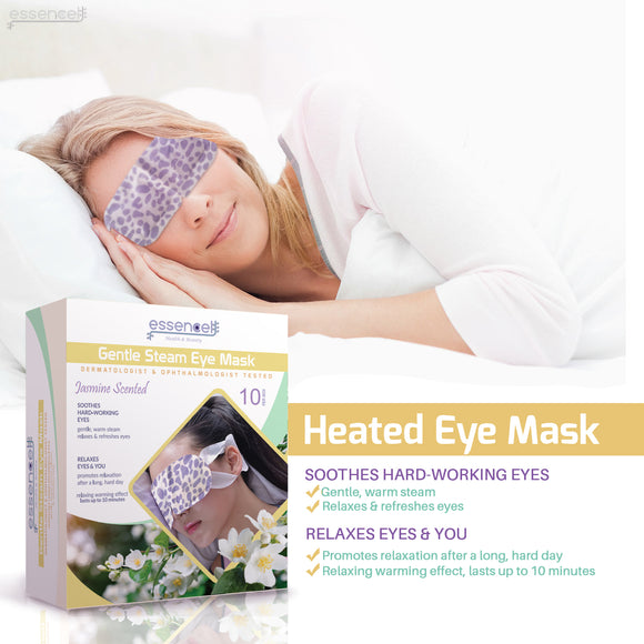 Steam Sleep Eye Mask for Tired , Dry Puffy Eyes , Dark Circles, Hot Under Eye Mask for  Travel, Spa Stye treatment ,Disposable -Jasmine Scented Eyes Mask
