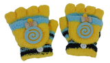 Boys' and Girls' fall & Winter Solid Knitted Half Finger Mittens ,Typing & Riding Gloves