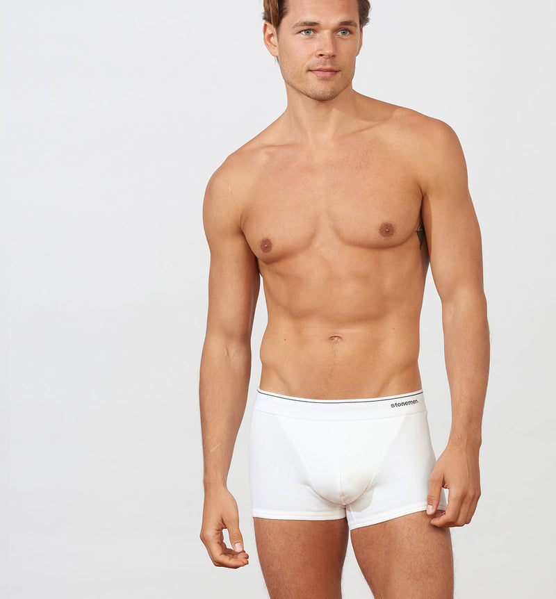Mens underwear Stonemen White Boxer Briefs