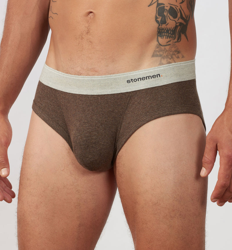 Men's Brief Essentials  /  Chocolate Brown