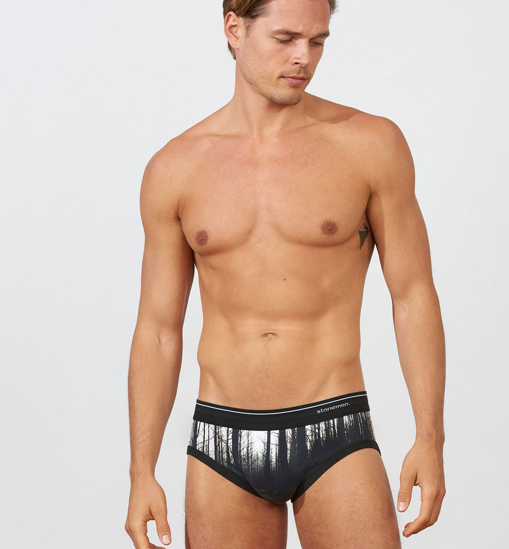 Forest print Stonemen Brief Cotton Underwear