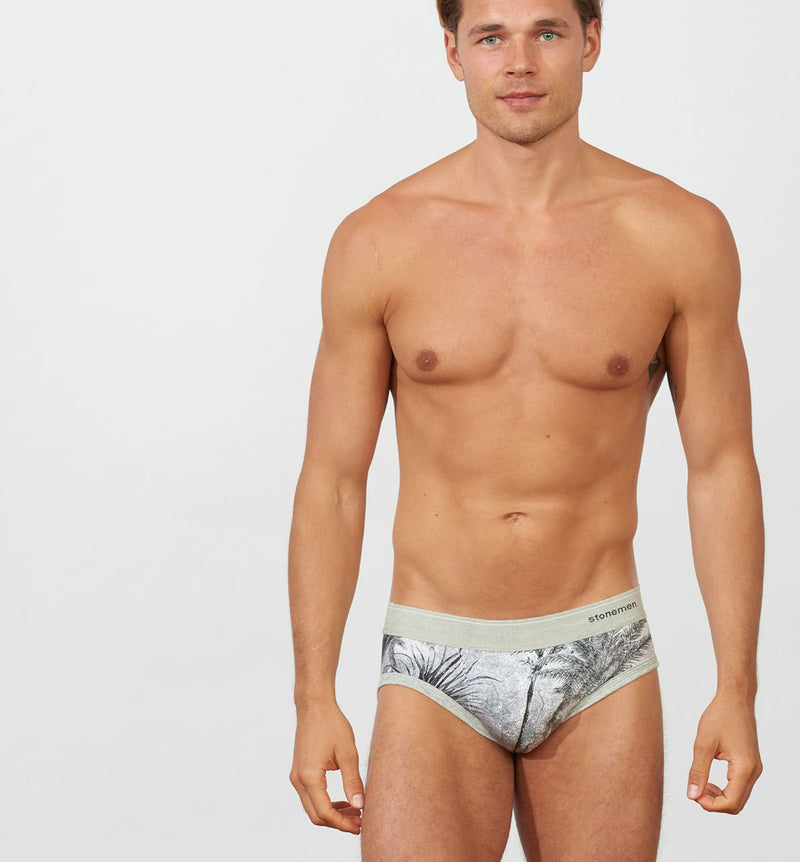 Jungle Print Stonemen Brief Cotton Underwear