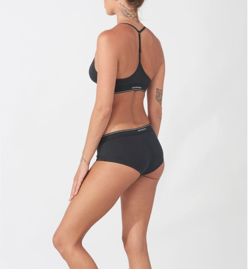 Women's Brief  /  Essential Charcoal Black