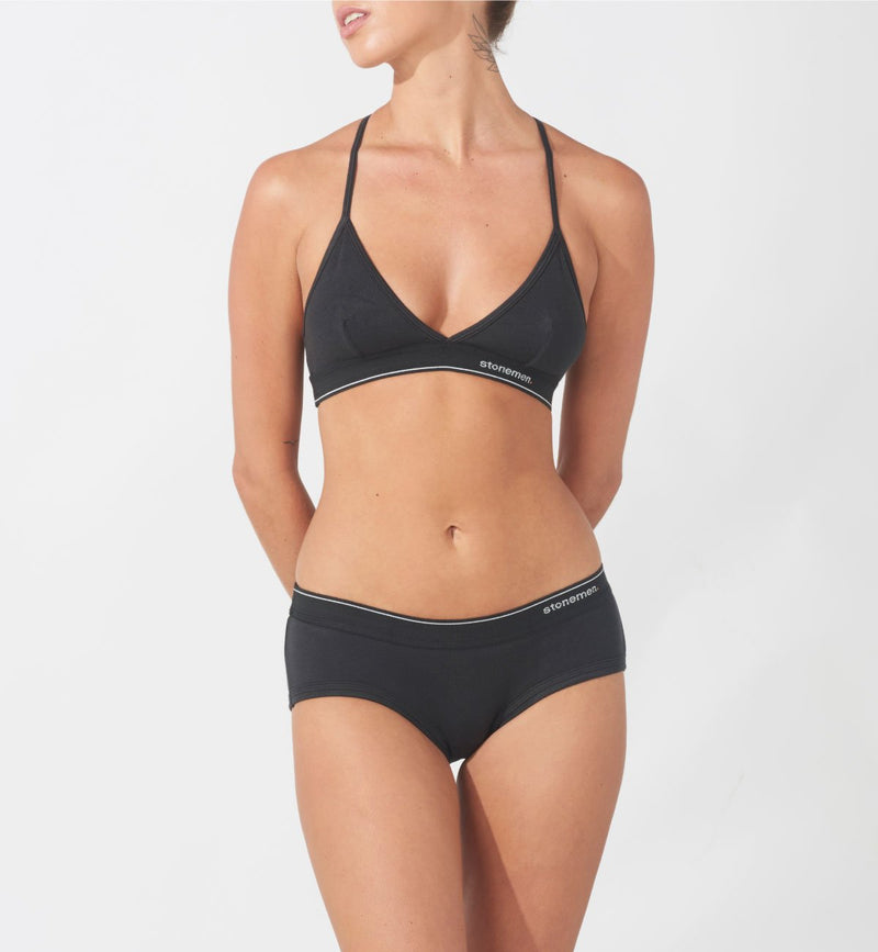 Bralette  /  Essential Charcoal Black
