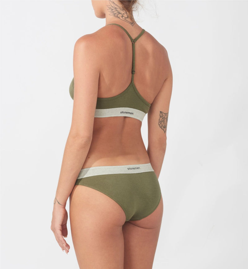 Bralette  /  Essential Army Green