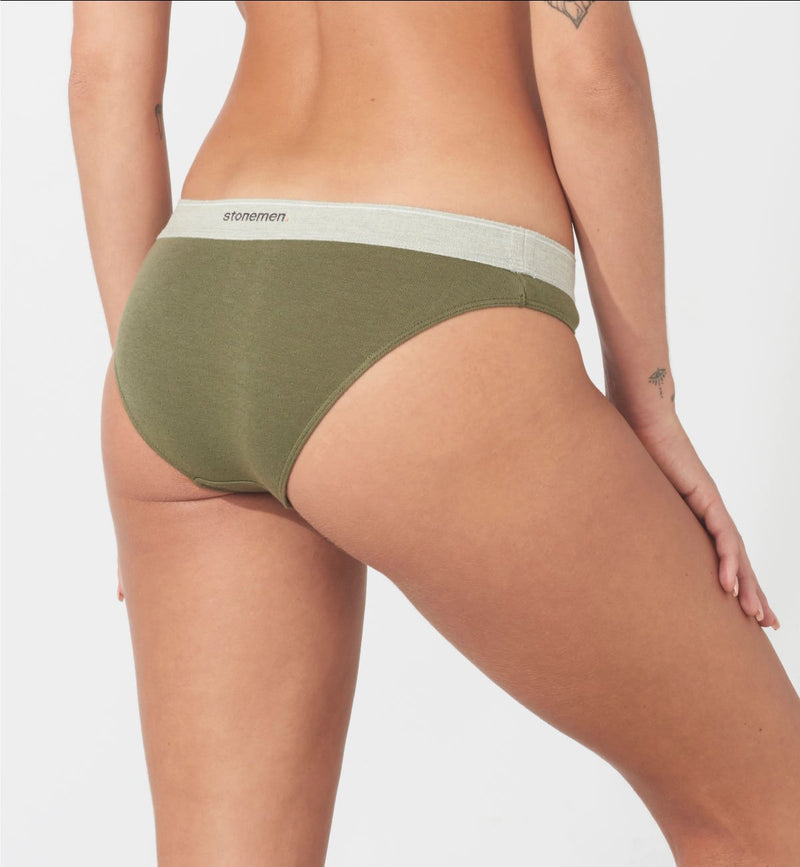 Women's Cheeky Brief  /  Essential Army Green