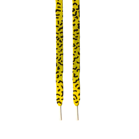 Yellow Cheetah custom printed shoe Laces - FashionGorilla