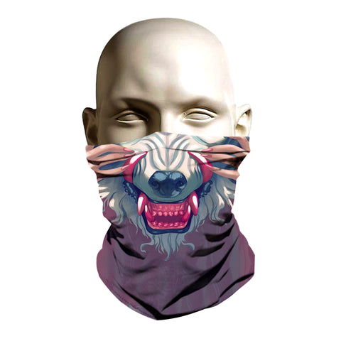 Ski Mask face shield - Wolf design - FashionGorilla