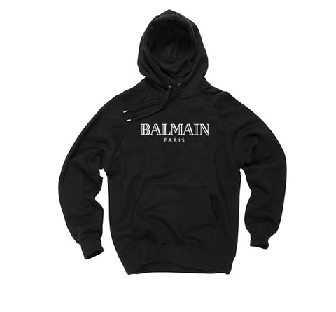 Balmain - Black Pull Over Hoody High Fashion - FashionGorilla
