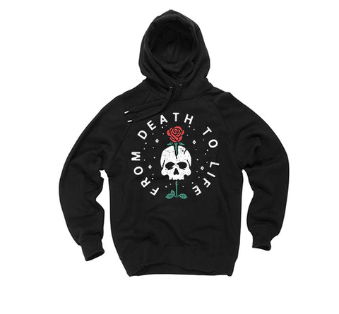 Urban Fashion- From Death to Life Black print Hoody - FashionGorilla