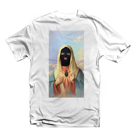 Graphic T-shirt - Saint Mari Ski Mask - FashionGorilla