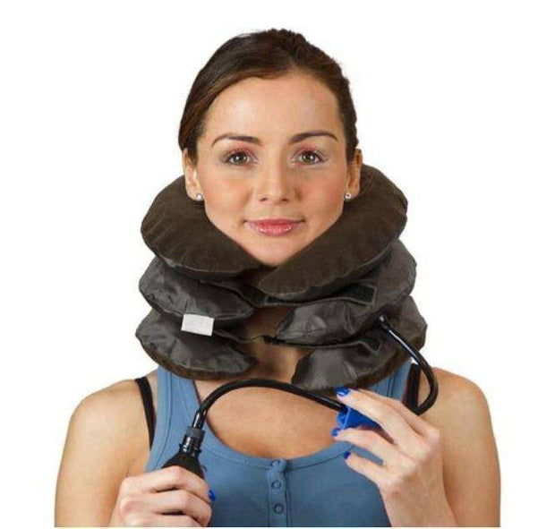 Air Neck Therapy Pain Reliever Posture Improvement  -  Brown  -  Honey Locker -  Neck Therapy