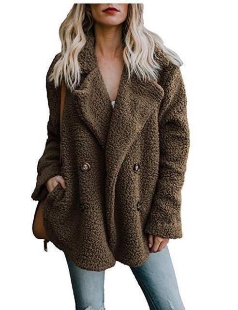 Cozy  Fuzzy Fleece Cardigan Coat  -  Brown / S  -  Honey Locker -  Coat