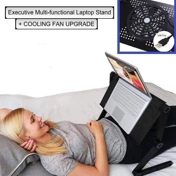 Ergonomic Executive Multi-functional Laptop Stand  -  BUY ONE / COOLING FAN UPGRADE  -  Honey Locker -  Lapdesks
